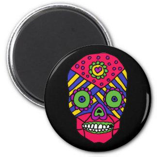 XX- Mixican Folk Art Skull Refrigerator Magnet