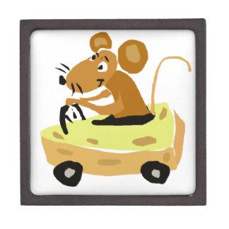 XX- Mouse Driving a Cheese Car Cartoon Gift Box