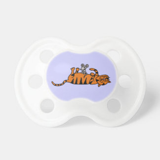 XX- Mouse Sitting on Cat Stomach Cartoon Baby Pacifiers
