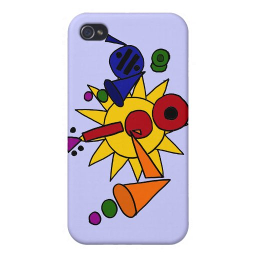 XX- Music and Sun Abstract Art Cover For iPhone 4
