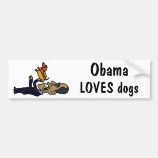 XX Obama AMA perros Etiqueta De Parachoque
