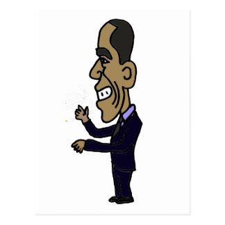 XX- Obama Cartoon Postcard