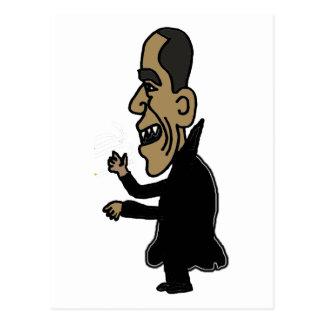 XX Obama el dibujo animado político del vampiro Tarjeta Postal