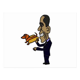 XX- Obama LOVES Dogs Postcard