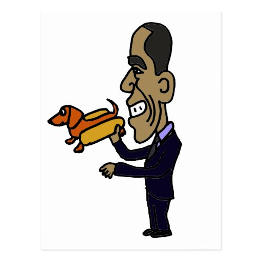 XX- Obama LOVES Dogs Post Card