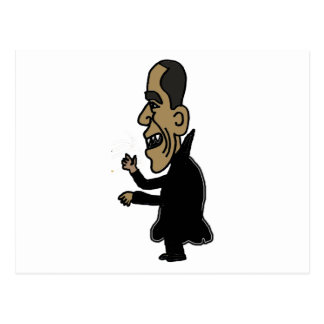 XX- Obama the Vampire Political Cartoon Postcard