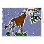 XX- Okapi Art Cartoon Card
