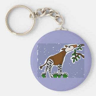 XX- Okapi Art Cartoon Keychain