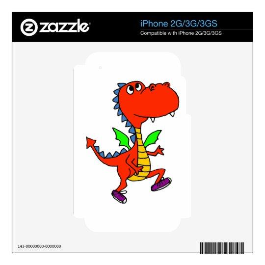 XX- Orange Dragon Jogging iPhone 3GS Decals