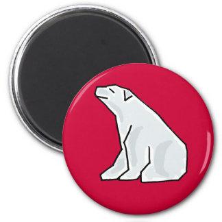 XX oso polar artístico Imanes