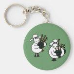 XX ovejas impresionantes que tocan las gaitas Llaveros Personalizados
