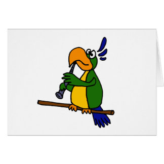 XX- Parrot Playing the Clarinet Design Card