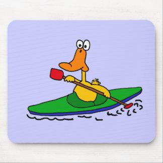XX pato Kayaking divertido Mouse Pad