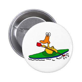 XX pato Kayaking divertido Pin Redondo De 2 Pulgadas
