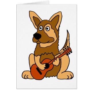 XX perrito del pastor alemán que juega el dibujo a Tarjeta