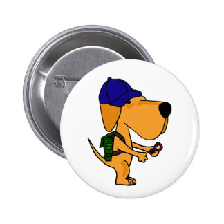 XX perro amarillo de Labrador de nuevo a dibujo an Pin Redondo De 2 Pulgadas