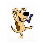 XX perro de perrito de baile Postal