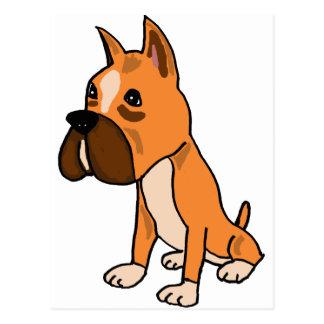 XX perro de perrito del boxeador Postales