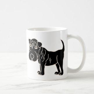 XX perro de perrito negro de Shar Pei Taza