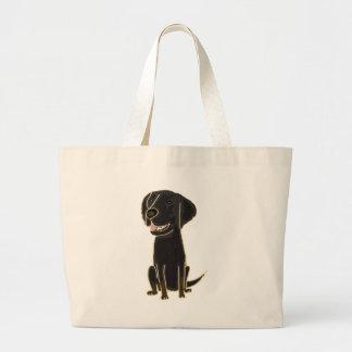 XX perro de perrito negro del perro perdiguero Bolsa De Mano