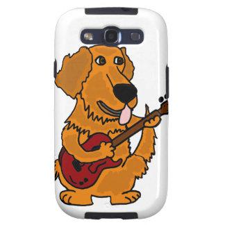 XX perro del golden retriever que toca la guitarra Galaxy SIII Funda