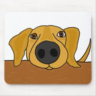 XX perro divertido que pide en el dibujo animado d Tapete De Ratón
