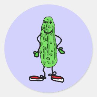 XX- Pickle Man Round Stickers