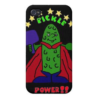 XX- Pickle Power Superhero Pickleball Cartoon iPhone 4/4S Covers