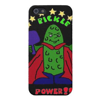 XX- Pickle Power Superhero Pickleball Cartoon iPhone SE/5/5s Case