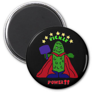 XX- Pickle Power Superhero Pickleball Cartoon Magnet