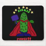 XX- Pickle Power Superhero Pickleball Cartoon Mouse Pad
