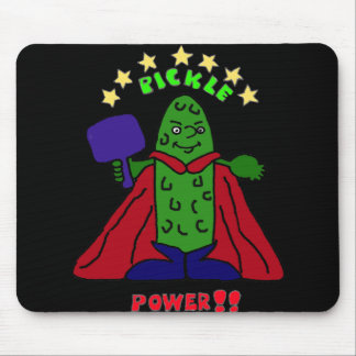 XX- Pickle Power Superhero Pickleball Cartoon Mouse Pad