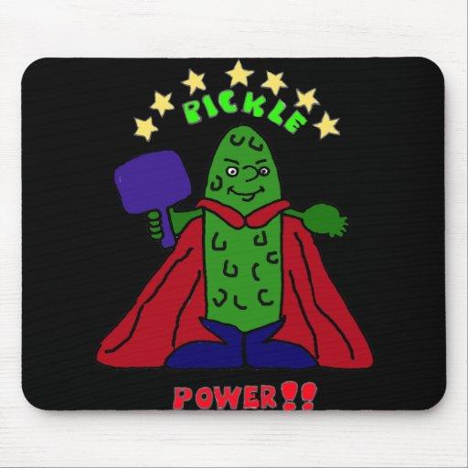 XX- Pickle Power Superhero Pickleball Cartoon Mouse Pads