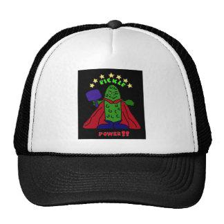 XX- Pickle Power Superhero Pickleball Cartoon Trucker Hat