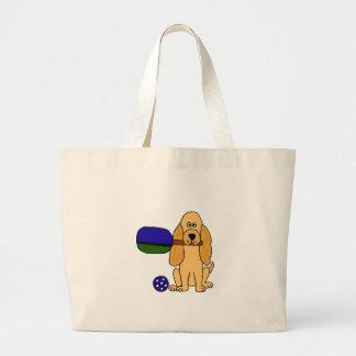 XX- Pickleball Cocker Spaniel Cartoon Canvas Bag