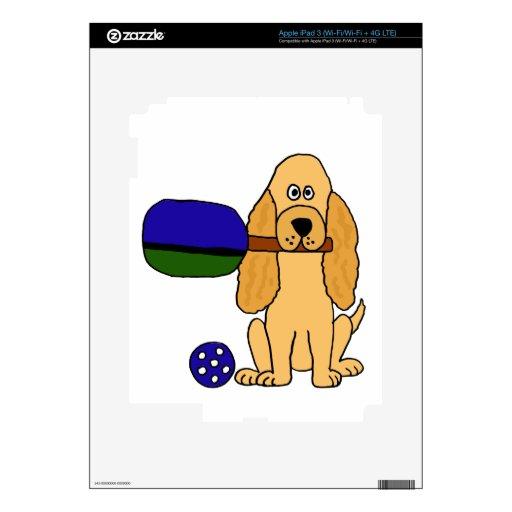 XX- Pickleball Cocker Spaniel Cartoon iPad 3 Decals