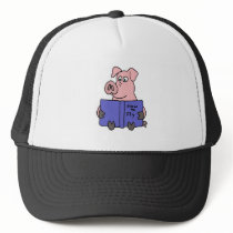 XX- Pig Reading How to Fly Book Trucker Hat
