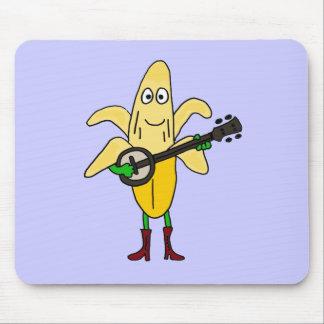 XX plátano divertido que juega el dibujo animado d Tapete De Ratón