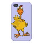 XX pollo torpe hilarante iPhone 4 Funda