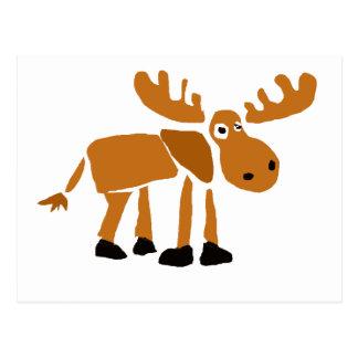 XX- Primitive Art Moose Postcards