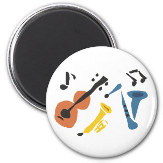 XX- Primitive Art Musical Instruments Refrigerator Magnets