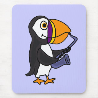 XX- Puffin Playing the Saxophone Mouse Pad