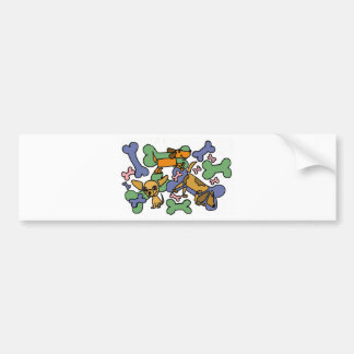 XX- Puppy Dogs and Bones Art Car Bumper Sticker