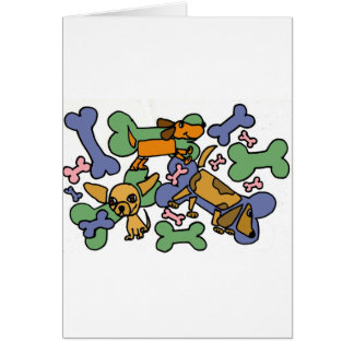 XX- Puppy Dogs and Bones Art Greeting Cards