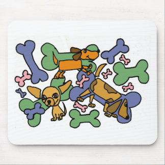 XX- Puppy Dogs and Bones Art Mousepads