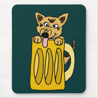 XX- Puppy in a Beer Mug Mouse Pad