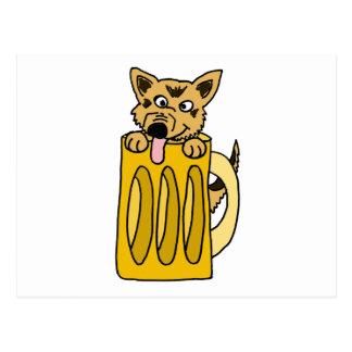 XX- Puppy in a Beer Mug Postcard