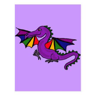 XX- Purple Dragon Postcard