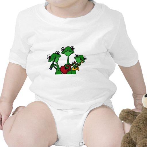 XX ranas que juegan el dibujo animado de la música Camisetas