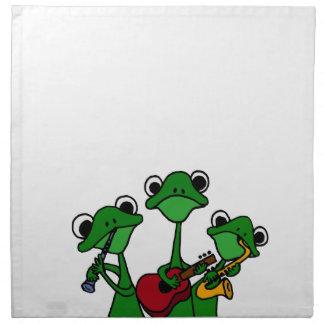XX ranas que juegan el dibujo animado de la música Servilletas Imprimidas